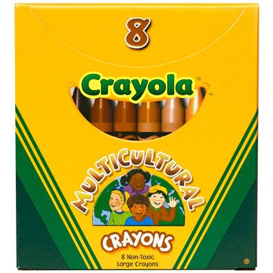 Yep. Estos crayones son multiculturales. Y no, no es broma, ni nota de The Onion o El Deforma