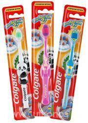 Колгейт щетка зубная детская с 2 лет  — 42р. ------------------- Эта щетка разработана для детей от 2 лет с передними молочными и прорезывающимися задними зубами. Закругленная головка и разноуровневые супермягкие щетинки специально разработаны для комфортной чистки маленьких детских зубов. Яркий дизайн щетки превратит скучную процедуру чистки зубов в увлекательную игру.    Форма выпуска  Щетка зубная детская. Выпускается в трёх вариантах: розовый (принцесса), синий (машинка), белый…