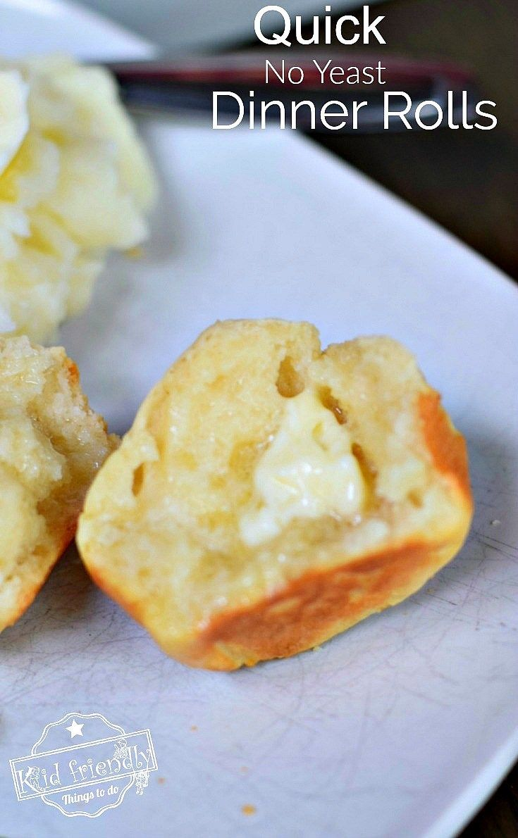 No Time For Yeast Dinner Rolls Recipe Easy Homemade Rolls