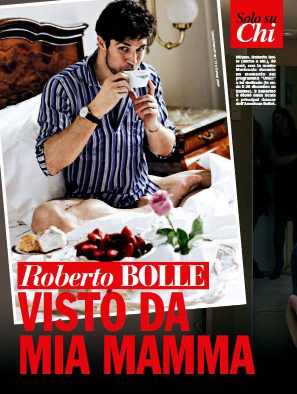 The special woman in Roberto Bolle's life comes forward - Roberto-Bolle-Chi-magazine