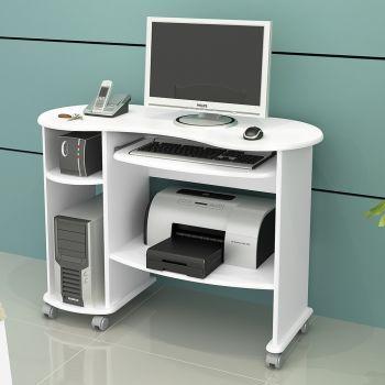 Mesa para Computador C18 Bb Branco - Dalla Costa
