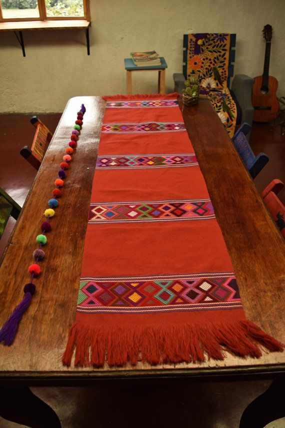 Hand Embroidered Table Runner from Chiapas / by InLaKeshArte