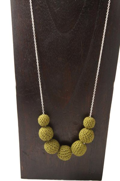 Crochet Happiness Chain - Olive A$25.95