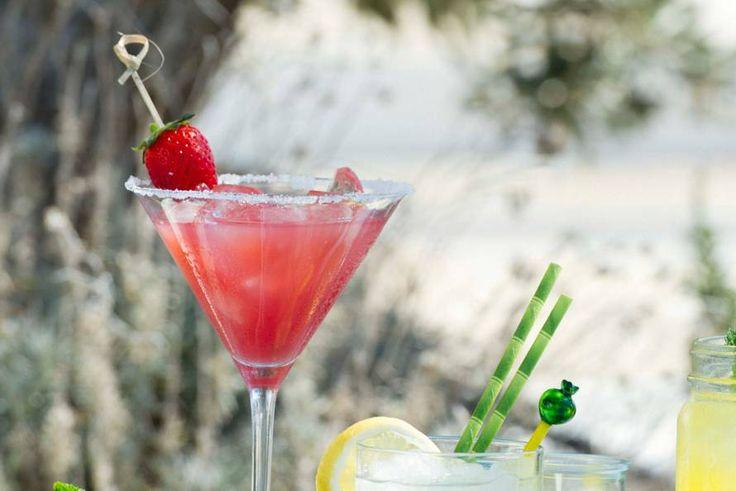 Aardbeien-daiquiri cocktail