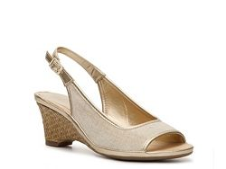 Aerosoles Dozen Roses Metallic Wedge Sandal
