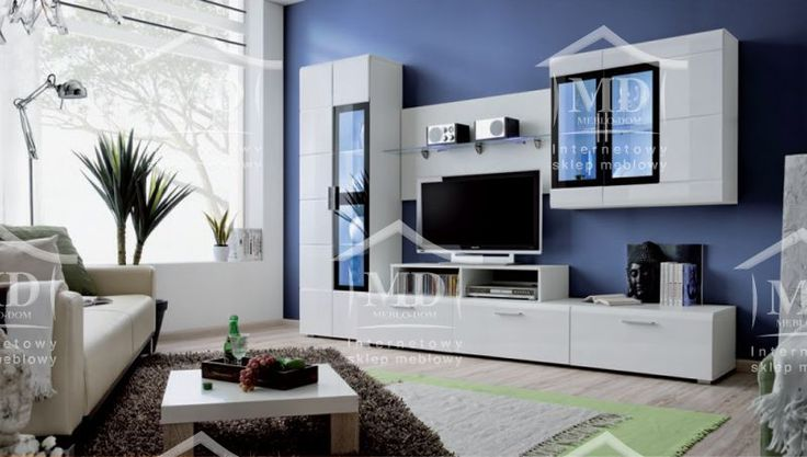 White wallunit for stylish and modern livingroom. Best offer with delivery EU , check it   White wallunit tv stand price 470 euro