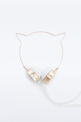 Skinnydip x Zara Martin Rose Gold Kitty Headphones