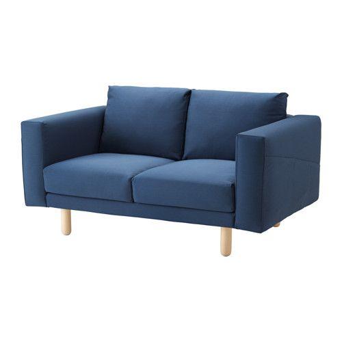 NORSBORG 2-sits soffa, Edum mörkblå, björk Edum mörkblå björk
