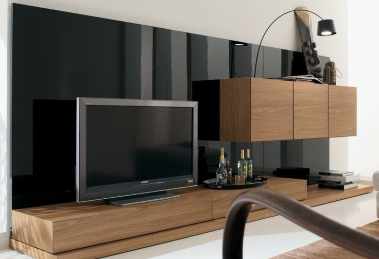 muebles para tv madera oscuro ras
