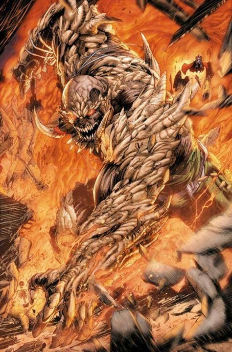 Doomsday, a villain from the Superman comics. I have always loved a titanic, hulking creature in stories. They have a visceral presence and really drive the stakes of the protagonist higher if done right.
