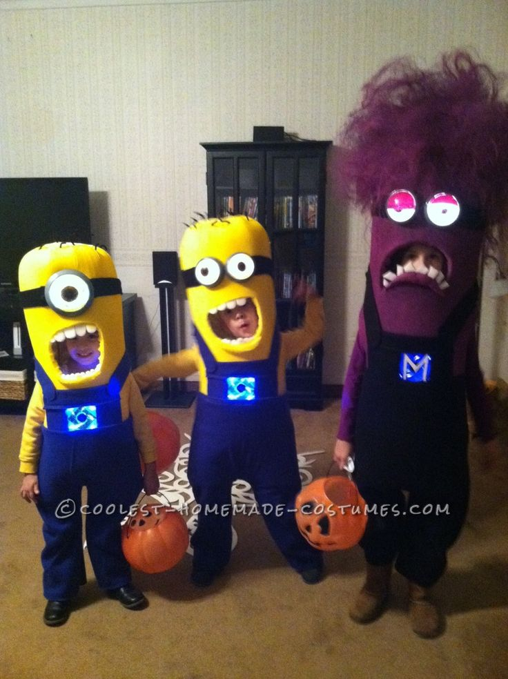 Three-of-a-Kind Minion Siblings Halloween Costumes... Coolest Homemade Costumes