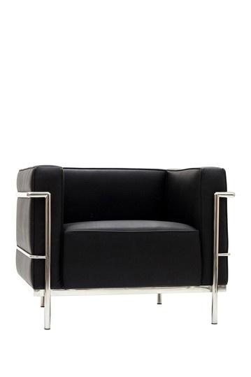 Le Corbusier LC3 Genuine Leather Armchair - Black
