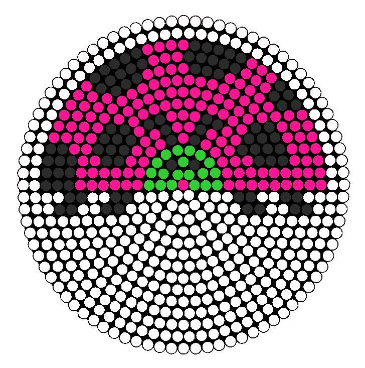Large Lady Bug bead pattern