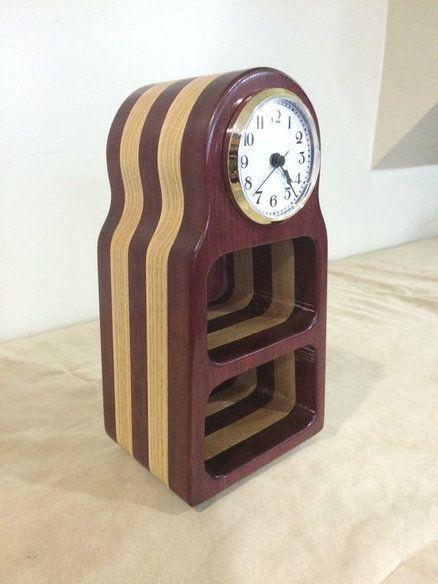 Birch Bandsaw Box ~ Bandsaw clock purpleheart birch boxes