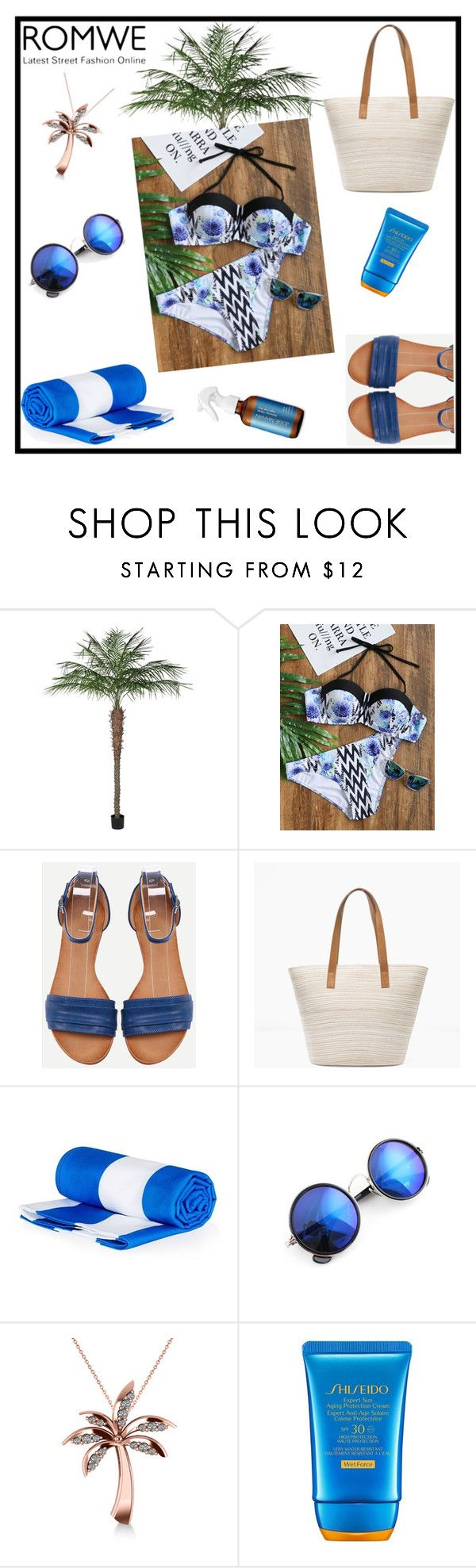 """""""New romwe contest bikini-set"""" by tlb0318 on Polyvore featuring Chico's, Allurez, Shiseido and Surfer Girl"""