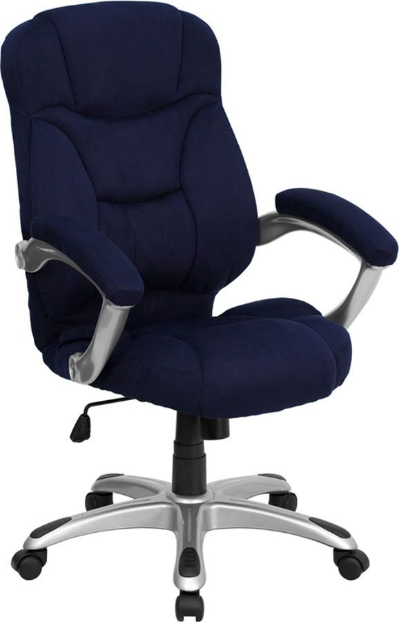 flash furniture high back navy blue microfiber upholstered office chair