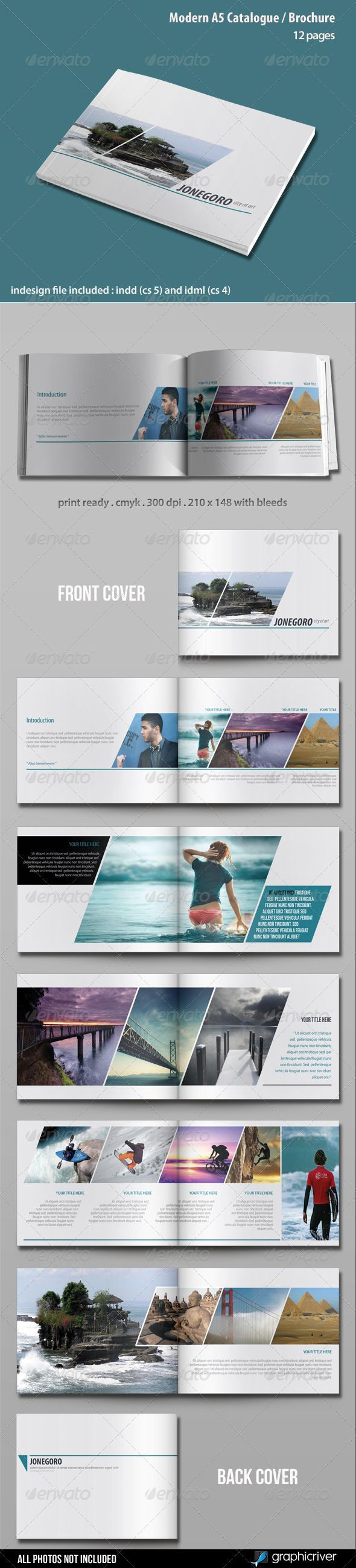 Modern A5 Catalogue / Brochure - GraphicRiver Item for Sale: