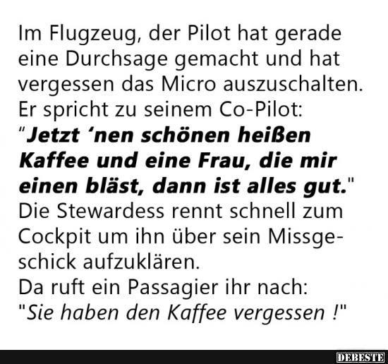 Im Flugzeug, der Pilot hat gerade eine Durchsage gemacht.. | Lustige Bilder, Sprüche, Witze, echt lustig