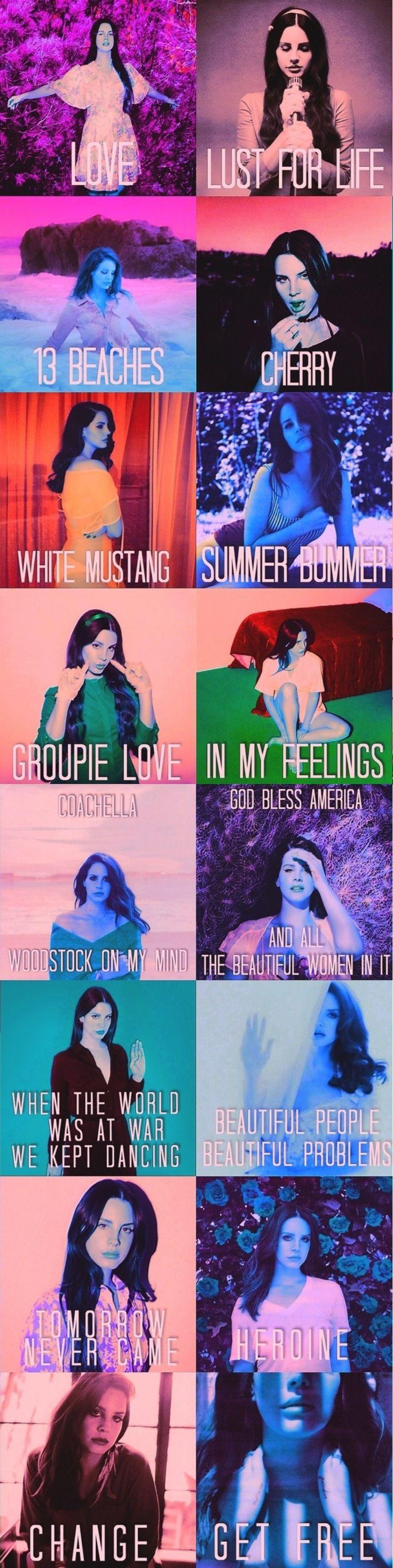 Lana Del Rey + Neil Krug + songs from Lust For Life #LDR