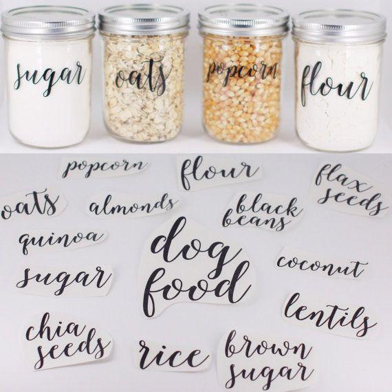Pantry Labels//Fully CUSTOM Pantry Labels // Jar by HouseOfJars