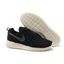 Nike Roshe Run Mens Mesh Shoes Black, Beige, Slategray Logo [v7tRb]