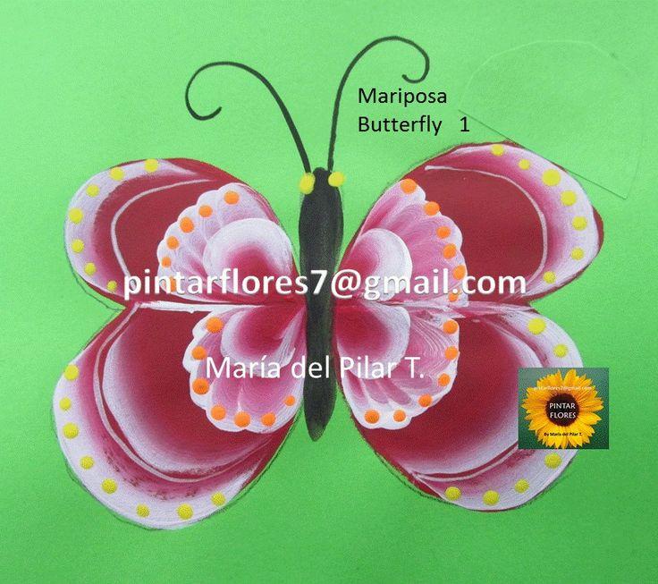 Como pintar la mariposa en   http://youtu.be/Xn5KoSOqkHc