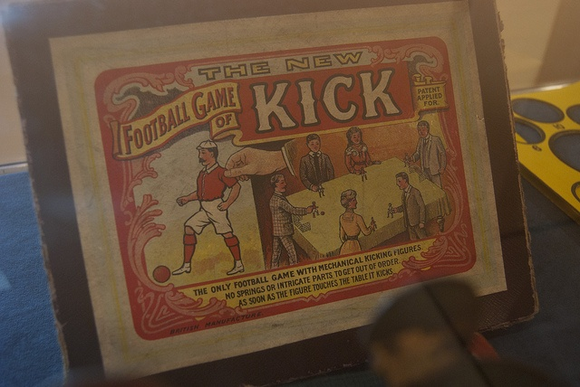 Box of 'The New Football Game of Kick' as seen at the Durham Amateur Football Trust Exhibition at Beamish.    'From Amateur Football to the World Cup' looks at the history of amateur football in the North East - from West Auckland Town winning the firs Football promotional products and ideas