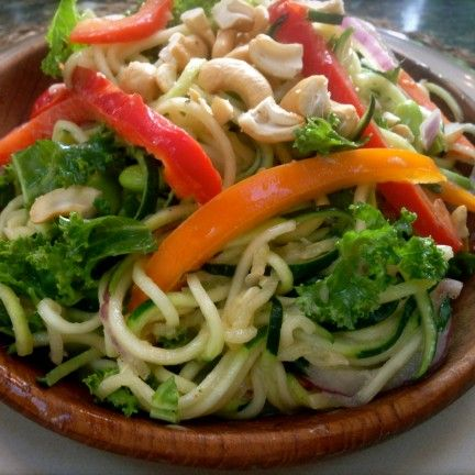 raw zucchini noodle pad thai- OSG inspired.