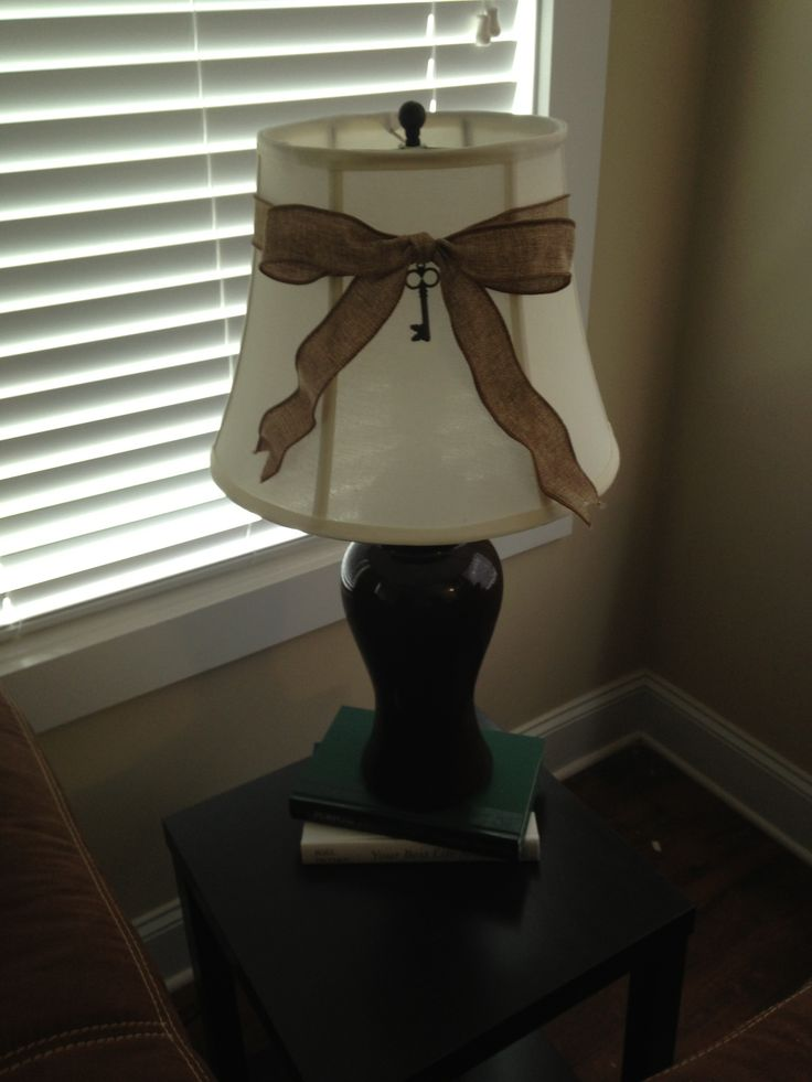 109 best lamp shades images on pinterest lamp lamp shade diy burlap mozeypictures Choice Image