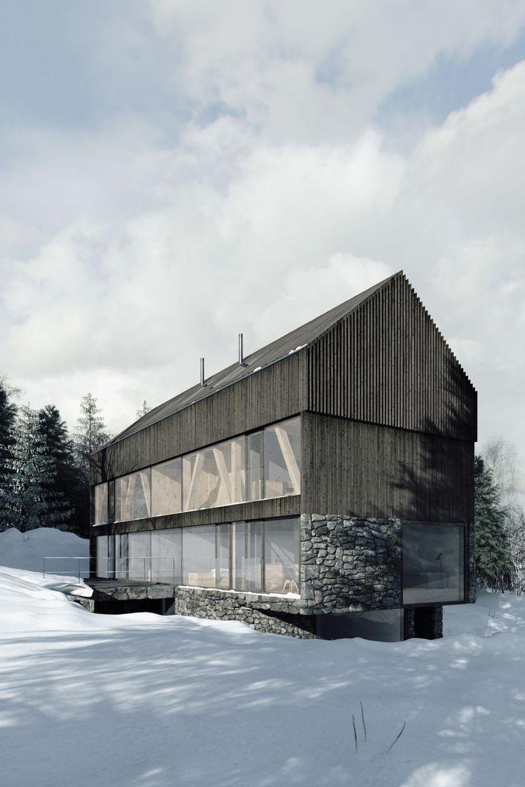 Holzhaus moderne architektur  403 besten Holzhaus Bilder auf Pinterest | Architektur ...