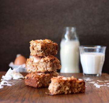 Fructose-free Baking: Coconut Cake Bars