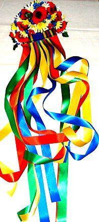 Vinok with ribbons. ukraine wreath for head flowers woman costume