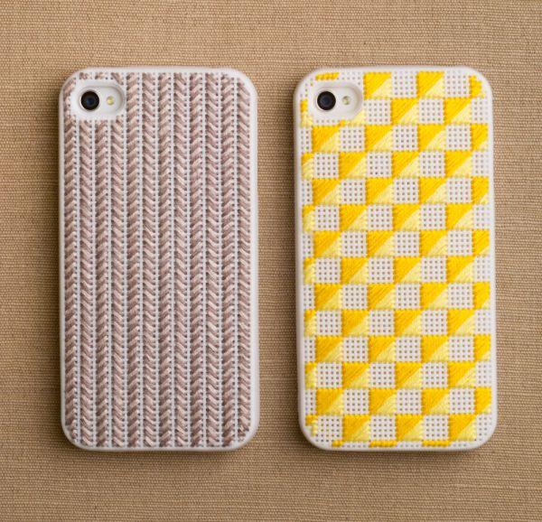 DIY: needlepoint iPhonecases via Purlbee