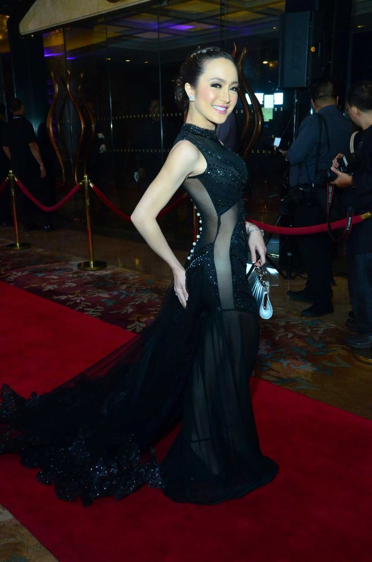 Actress Kitkat in a black see-through gown at the Star ...