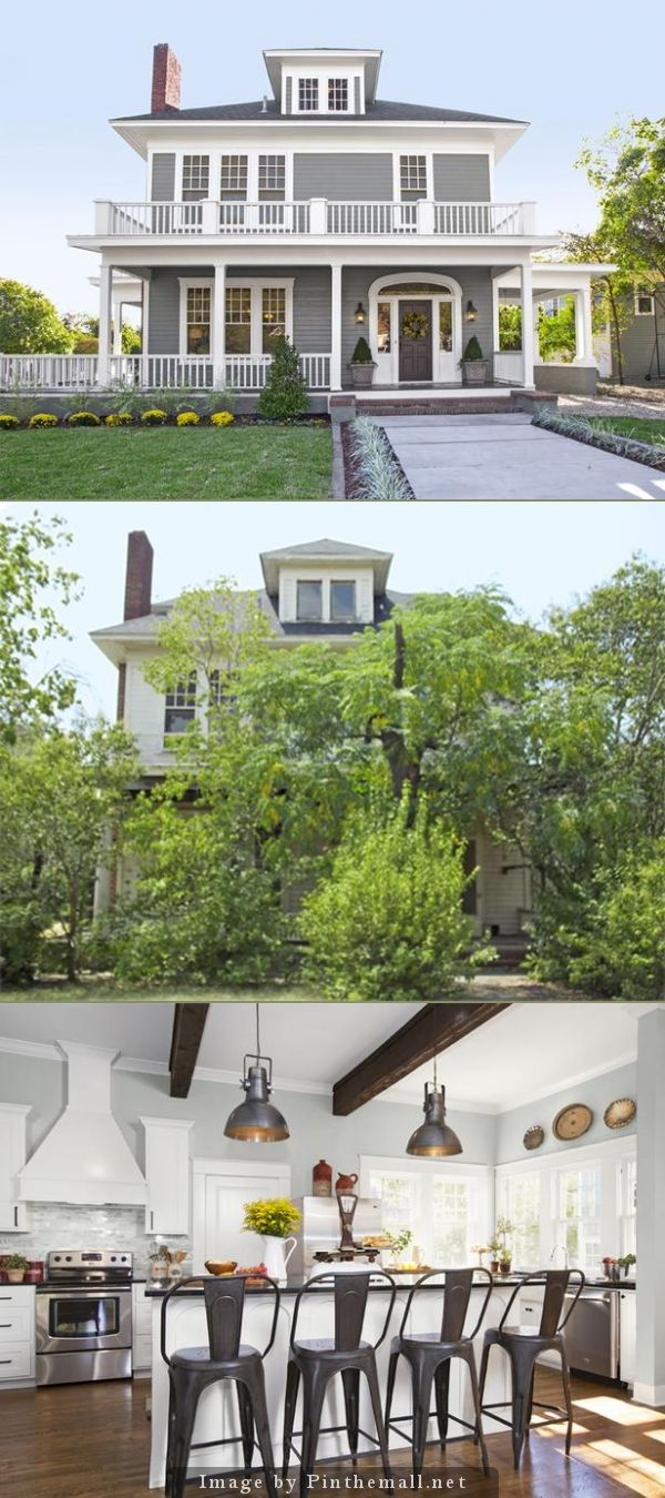 "Before/After from HGTV's ""Fixer Upper"" my favorite show. Just wish I could these homes where I live."