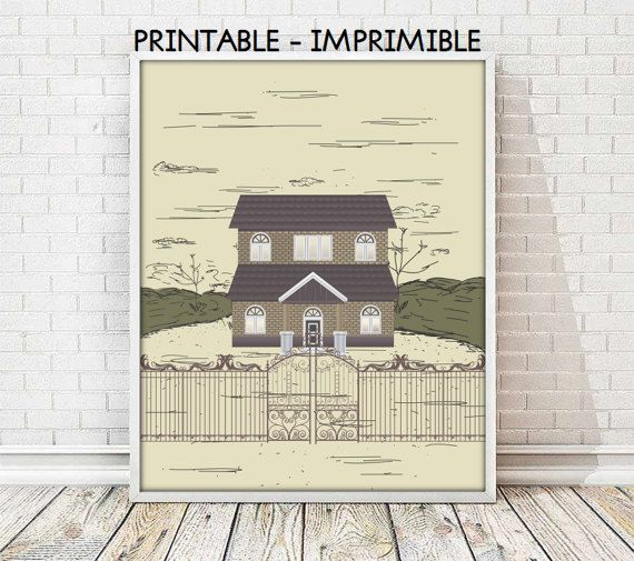 laminas casas,cuadros casas,laminas imprimibles,laminas decorativas,cuadros decorativos,cuadro retro,laminas retro,5 TAMAÑOS INCLUIDOS