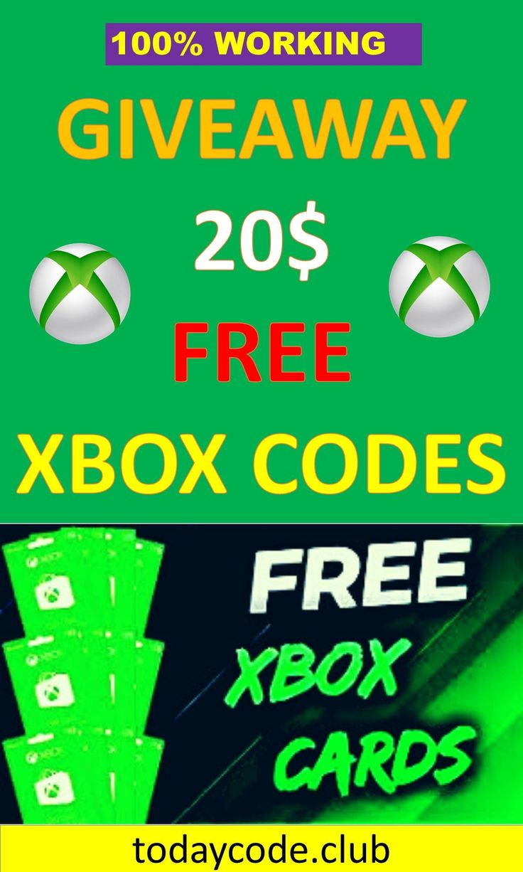 Get free xbox gift cards get a 20 xbox gift card