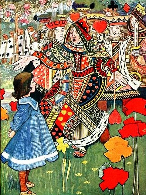 By Charles Robinson.  Alice and the Queen of Hearts