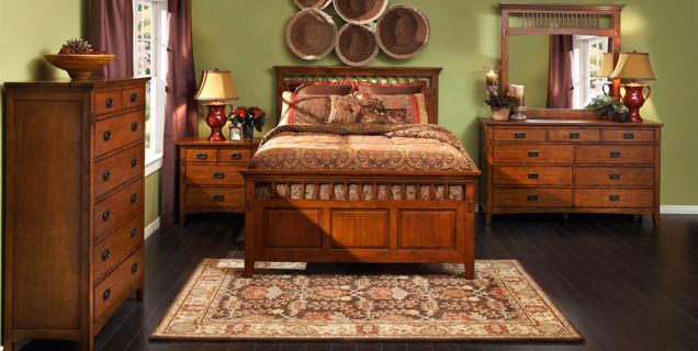 Mission-style must have: Cristo Bedroom in medium oak finish ...