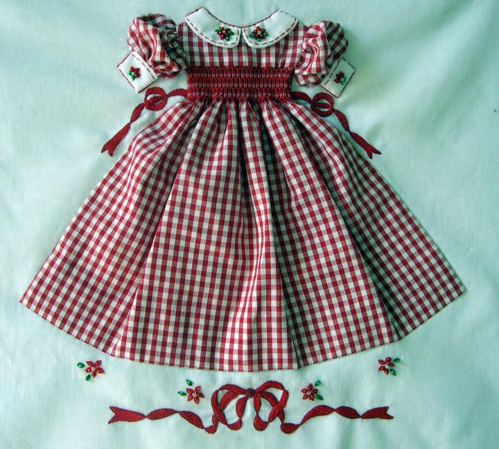 Kreations by Karon Nice idea for American girl doll dress.