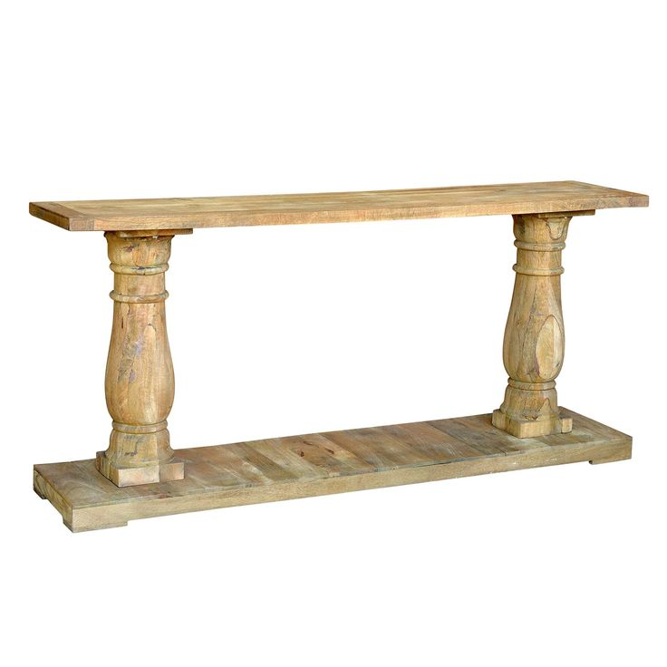 International Reclaimed Wood Transitional Console Table (Reclaimed), Beige