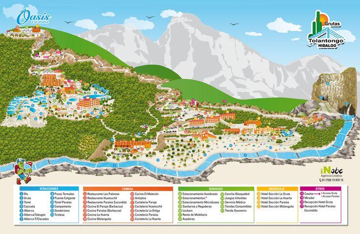 Mapa Tolantongo, Hidalgo | México sorprendente | Pinterest