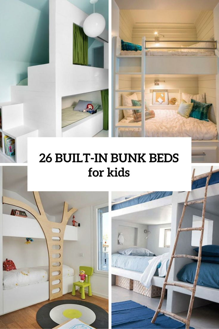 Best 26 Cool And Functional Built In Bunk Beds For Kids 640 x 480