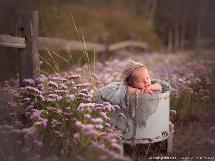 Loving everything about this natural baby photo!