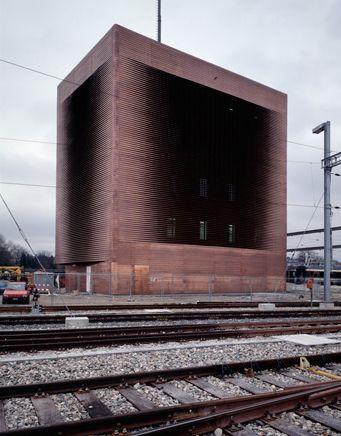 Signal Box Auf dem Wolf, Basel, Switzerland (1989, realisation 1991-1994). Image Courtesy of Herzog & de Meuron