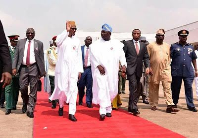 Photos: President Buhari arrives Lagos for the commissioning of Nigerian Navy ships - http://www.thelivefeeds.com/photos-president-buhari-arrives-lagos-for-the-commissioning-of-nigerian-navy-ships/