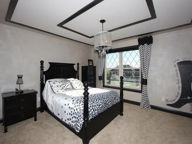 Nice Black And White Themed Bedroom Bedrooms Pinterest