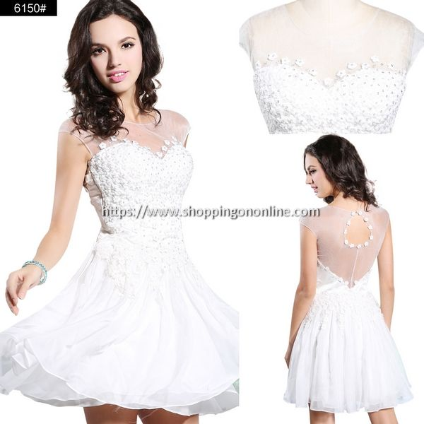 White Cocktail Dress - Sexy Cap Sleeves $184.79 (was $230.99) Click here to see more details http://shoppingononline.com/cocktail-dresses/white-cocktail-dress-sexy-cap-sleeves.html #WhiteCocktailDress #SexyCocktailDress #CapSleeves #CapSleevesCocktailDress #WhiteShortDress #WhiteDress #ShortCocktailDress #CocktailDress