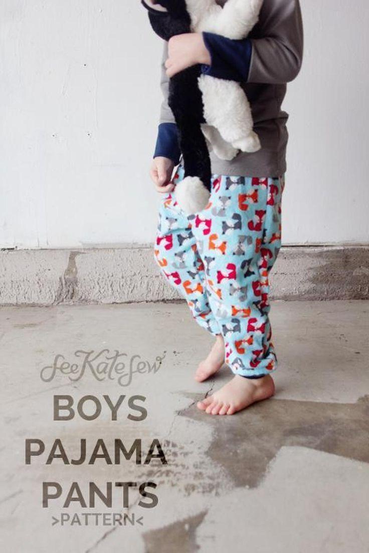 Boys Pajama Pant free pattern PDF download!