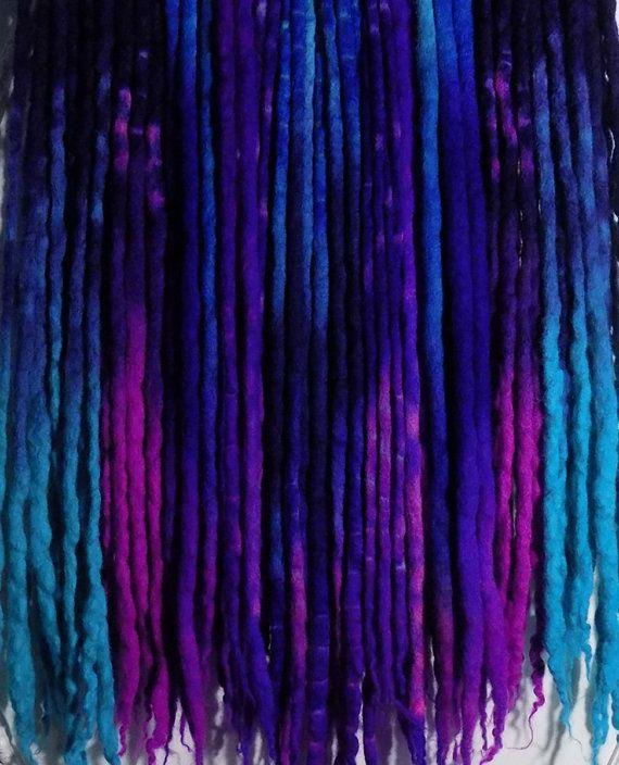 40 DE (double ended, for a total of 80 ends) Corriedale Cross Wool Dreads  Roughly 40-52 Total Length, (when folded in half, they are